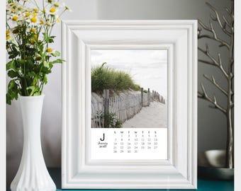 2018 desk calendar, cape cod calendar, 2018 calendar, monthly calendar, nautical calendar, beach calendar, 2018 photo calendar, 5x7 calendar