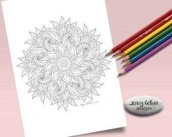 Printable Colouring Page Tango Mandala