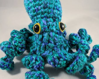 Mini Toy Giant Pacific Octopus /sea creature in blue-green