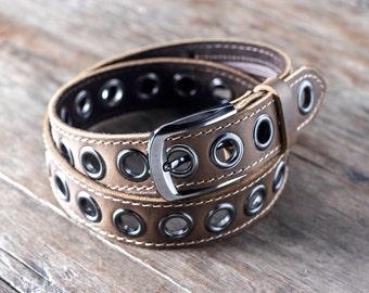 Mens Leather Belt, Leather Belt w/ninja HIDDEN Pocket, FREE Personalization, Belts for Men, Handmade Leather Belt, Man Belt [Listing #099]