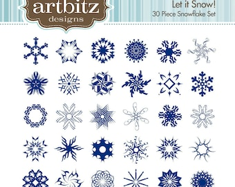 Let it Snow No. 04001 Clip Art Kit, 300 dpi .jpg and .png