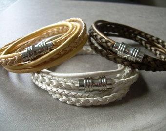Leather Bracelets Women's Braided Leather Bracelet Leather Bracelets for Women Womens Bracelet Leather Wrap Bracelet Teacher Gift