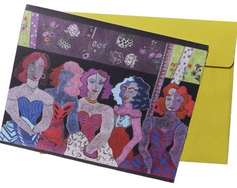 Art note card  'The Five'