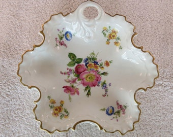 PROMOTION: Gerold-Porzellan, Baveria, seventies, beautifully painted flower dish, for household use