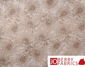 Taupe Tonal Fabric, Hello Dahlia by Herble for Wilmington Prints, Quilt or Craft Fabric, Fabric by the Yard