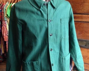 Green Cotton Work Jacket