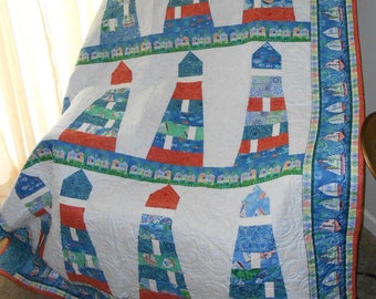 Quilt - Lighthouses at the Shore