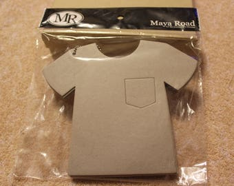 """Free Shipping!  Maya Road T-Shirt Chipboard Coaster Book - 8 pages on chain - C1192 - 7"""" x 6"""" - Unique Scrapbook Album - S3"""