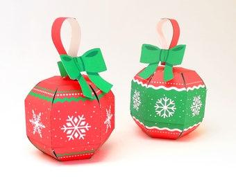 DIY Christmas ornaments, paper Christmas ornaments, Christmas tree ornaments, Christmas decor, paper ornaments, printable christmas ornament