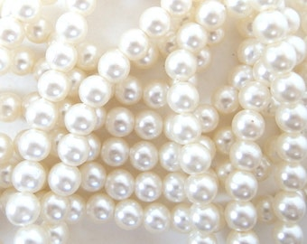 82 Inches Vintage 8mm Loose Strung Pearls (approx. 250)