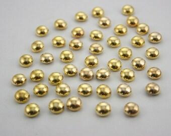100 pcs. Gold Dome Mushroom Rivets Studs Decorative Rivets Findings 8 mm. GD 8B 3