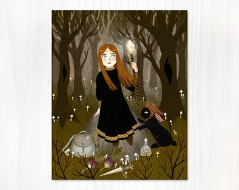 magic in the woods postcard