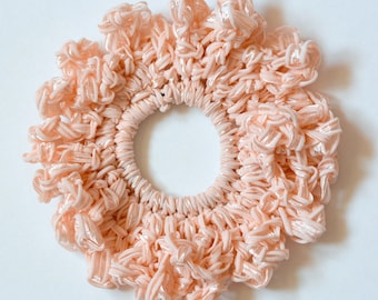 Ribbon headband/Hair Scrunchies/Ruffle Scrunchie/ ribbonScrunchie/  Scrunchie /Handmade Scrunchie /Gift Under 10/gift for her