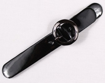 8 98x20mm, polyurethane, black belt buckles (3033)