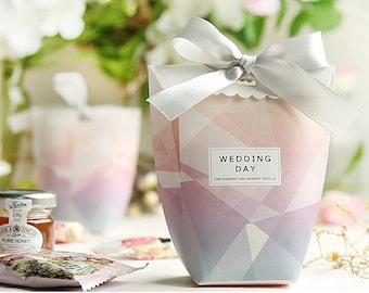 Wedding Favor Boxes, Wedding Gift Boxes, Wedding favors, Wedding favour boxes, Party favor box, Marble Wedding box (set of 20)