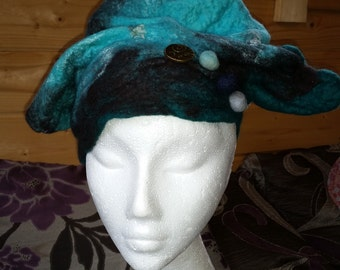 Wet felted hat (large)