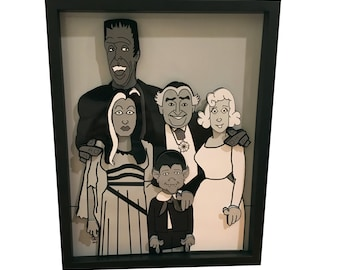 The Munsters 3D Art Herman Munster Lily Munster Lily Munster Grandpa Eddie Munster