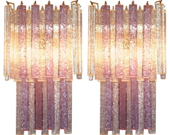 murano glass wall sconces pair