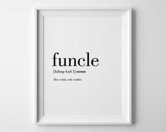 Funcle, Best Uncle Ever, Uncle To Be Gift, Uncle Printable, New Uncle