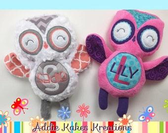 Personalized Plush Owl / Stuffed Animal