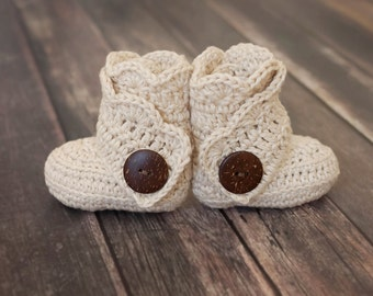 Handmade, Crocheted Baby Boots, Crocheted Baby Booties, Baby Booties, Baby Boots