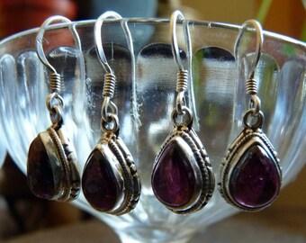 Garnet teardrop earrings