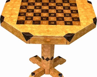 Medium Oak Chess Table