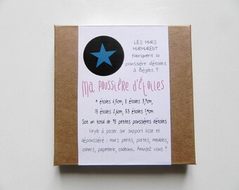 My Stardust - 78 stickers stars blue pouch