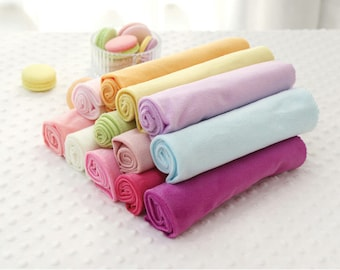 Smooth Minky Fabric - Choose From 13 Solid Colors - By the Yard - 83424