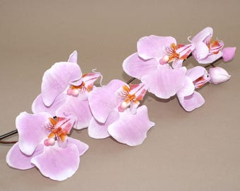 Violet True Touch Phalaenopsis Orchid Branch - silk flowers- artificial flowers