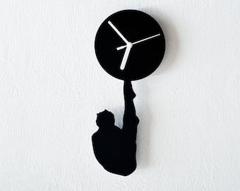 Olympic Diving Silhouette Wall Clock