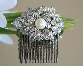 Bridal Hair Comb, Made from Vintage inspired jewelry - Wedding Hair Comb, Bridal Hair Comb, Wedding Hair Comb, Jewellery, Headpiece