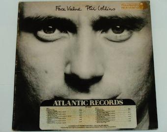 "Phil Collins - Face Value - ""In the Air Tonight"" - ""This Must Be Love"" - Atlantic Promo Copy 1981 - Vintage Gatefold Vinyl LP Record Album"