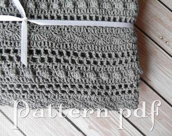 PDF Pattern - Crocheted Lace Baby Blanket Pattern