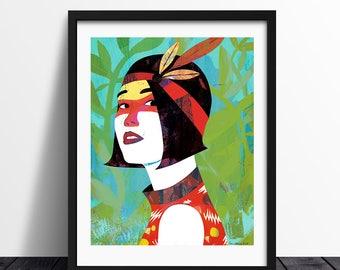 Ready to the party! / Illustration Print / Art Print / High Quality Print / Fashion Illustration / Ilustración / Fine Art Print