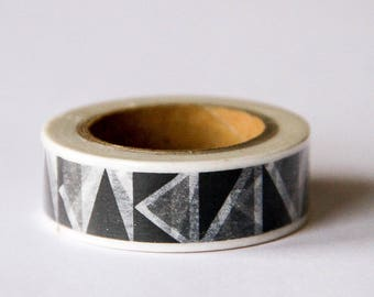 Washi tape - black and white triangles, geometric pattern