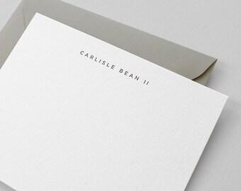Simple Personalized Letterpress Stationery | San Serif Font, Custom Name