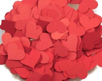 Funfetti Paper Confetti  Die Cut  Hearts in Hot Tamale