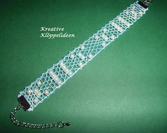 Hand geklöppeltes bracelet Blue mottled
