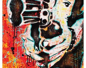 """Shooter II - """" Get Yer Gun"""" - 18 x 24  High Quality Art Poster"""