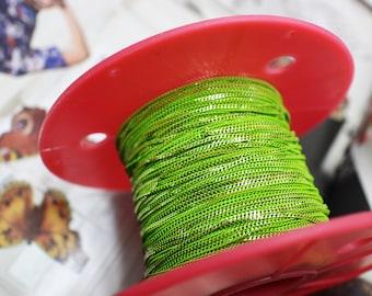 1mm shiny Olive green chain