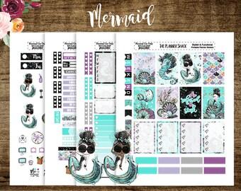 Mermaid | Happy Planner | Printable Planner Stickers | Planner Printables | Audrey Hepburn | Mermaids | Dark Skin | Light Skin | Cut Files