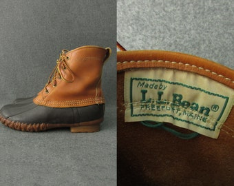 "Size 7 L | Vintage L.L. Bean 8"" Maine Hunting Shoes Made in USA"