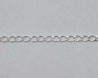 Bright Silver, 4mm Curb Chain CC142