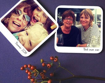 Personalised Polaroid Instagram Photo Coasters