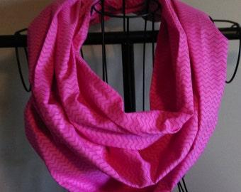 Stoff Infinity Schal heißen Rosa Mini Chevron