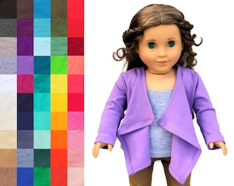 Fits like American Girl Doll Clothes - Cascade Cardigan, You Choose Color | 18 Inch Doll Clothes