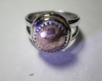 Ring, size 6 1/2... Shibuichi and sterling silver