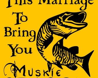 """MUSKIE FISHING SIGN 9""""x12"""" Aluminum 3018"""