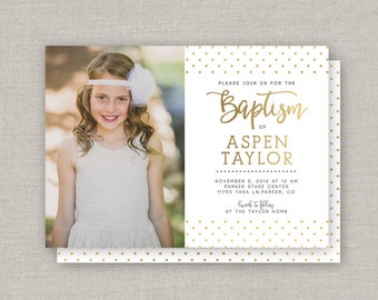 LDS Baptism Invitation - Aspen